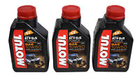 Motul 105900Synthetic Motor Oil ATV/SXS Power 4T 10W50 1L/1.05 Qts Can- 3 Pack