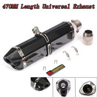 Universal 470mm Dual-outlet Exhaust Muffler Escape Pipe For Motorcycle ATV 470mm