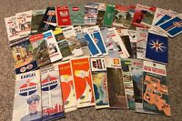 Lot Of 38 Vintage Gas Service Station Maps Esso Standard Chevron Gulf Texaco
