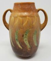 MINT Roseville FALLINE Small Brown Vase 643-6  BEST OFFERS ACCEPTED!
