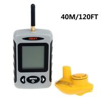 Wireless Fish Finder Portable 120FT Sonar Depth Sounder Alarm Fishing Supplies