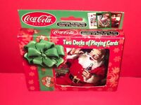 2001 Coca Cola Playing Cards 2 Decks Collectable Tin Limited Edition