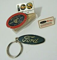 Vintage Rare Ford Motor Co. Variety Group lapel Pin Keychain Lot 100 Years Plus