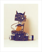 Ian Winstanley Robot Cat Art Print 16 x 20 Inches Officially Licensed