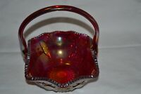 Fenton Ruby Red Iridescent Cranberry Carnival Glass Large 9