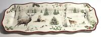 """Better Homes & Gardens Heritage Holiday Christmas 15"""" Platter Serving Tray, New"""