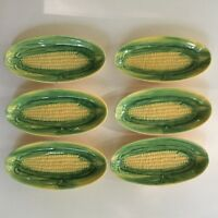 6 Vintage Vallona Starr California Pottery Corn Pattern Dishes For On The Cob