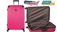 Outdoor Travel Bag Fit 4 Wheel Spinner Lightweight Checked Luggage Storage Pink