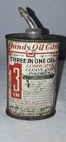 3 IN 1 THREE IN ONE LEAD TOP HANDY OILER OIL CAN