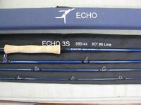 Echo 3S 906-4 Fly Rod 9' 6wt. with sock & case