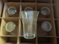 Hard Find Set of 6 1973 75th Anniversary Clear Flare Etched Pepsi-Cola Glasses
