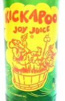 vintage SODA pop BOTTLE KICKAPOO JOY JUICE NUGRAPE 10 oz ACL yellow amp; red