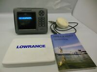Lowrance HDS 5 Fish Finding Sonar & GPS with LGC 3000 GPS RECEIVER #12736