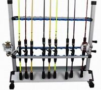Portable fishing 24 Rod Rack Pole Holder Aluminum Alloy Stand Storage US Stock