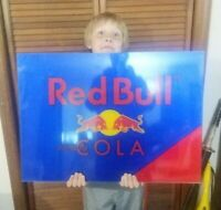 BIG Red Bull Simply Cola Acrylic LED Lighted Sign 27 1/2