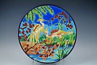 EMAUX de LONGWY ~ Antique FRENCH Pottery Large Plate