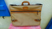 Suitcase Vintage lancel IN Canvas And Leather Rare With Key