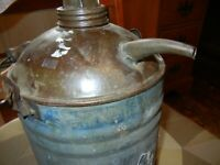 Vintage Nesco  Gas Oil Can Galvanized Wood Handle Farmhouse Find free shipping!