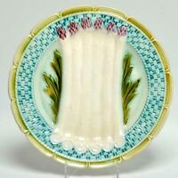 RARE OLD FRENCH ORCHIERS OR SALINS ASPARAGUS MAJOLICA SERVING PLATE