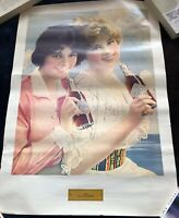 Vintage Coca Cola Girl Print 1912 two Flapper Girls