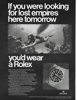 1968 Rolex Submariner Watch If you looking for Lost Empires Vintage Print Ad