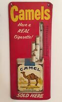CAMELS CAMEL cigarettes tin thermometer sign advertising tobaccana vintage Ad