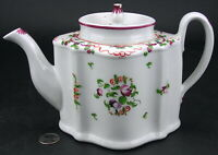 Antique Staffordshire Hand Painted Creamware or Pearlware Teapot