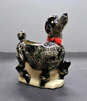 McCoy Pottery Snooty Poodle Planter Black and White Nursery Line Signed