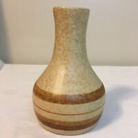 Pottery Craft USA Vintage Rustic Striped Stoneware Vase 6
