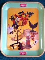 Original ! French 1957 Servex Coca Cola, Rooster Tray-Delicieux