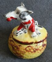 Very Rare HULL POTTERY Little Red Riding Hood BIG BAD WOLF Grease Drip Jar