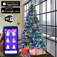 Christmas Tree RGB LED Lights 100pc WiFi App Enabled Color Changing String Light