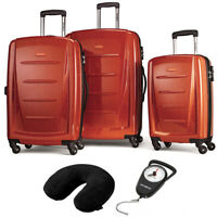 Samsonite Winfield 2 Fashion Hardside 3Pcs Spinner Set Orange + Pillow