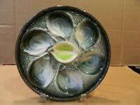 Oyster Plate St. Clements France Hand Painted 9 3/4