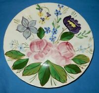 1 Blue Ridge Southern Pottery Pink Flower Floral Luncheon Plate 8 1/4