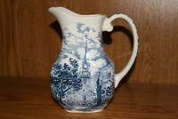 Vintage LIBERTY BLUE Staffordshire ~ PITCHER