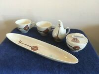 Vintage Red Wing Pottery LUTE SONG Art Deco - 6 pcs.