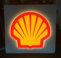 Vintage Shell Gas Station Lighted Canopy Sign works PLASTIC METAL OIL 40