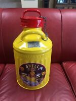 ANTIQUE VINTAGE RESTORED *SHELL GAS* ELLISCO 5 GALLON GAS CAN/BEAUTIFUL