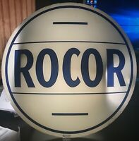 Vintage ROCOR Gas Pump Globe Glass Lens
