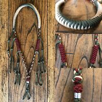 Custom Paracord Duck Goose Waterfowl Call Lanyard Olive Drab Red Diamonds Tan