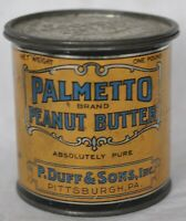 VINTAGE 1 LB PALMETTO PEANUT BUTTER TIN, EXCELLENT CONDITION, HARD TO FIND