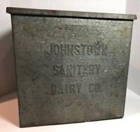 Johnstown Sanitary DAIRY INSULATED GALVANIZED MILK BOX Rare