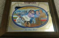 Vtg Seagrams Seven Crowns of Sports Collection Bar Mirror Lou Gehrig's Farewell