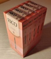 5 boxes of 25 Rico Bb clarinet #4 reeds, sealed NOS, 125 reeds LOT, B flat 4.0
