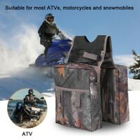 ATV Cargo Bag Storage Padded Motorcycle Snowmobile Tank Saddle Bag Camo
