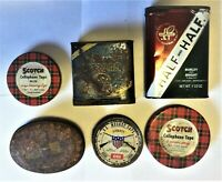 LOT Assorted Vintage Collectible Advertising Tins U.S. Musket Caps Bugler Scotch