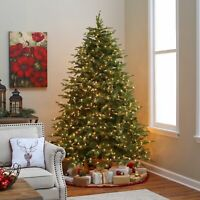 7.5Ft Pre-Lit Dense Christmas Tree 700 Clear LED Lights w/ 2000 Hinged Tips New