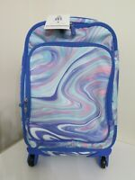 POTTERY BARN TEEN LET SET PINK PURPLE MARBLE SPINNER SUITCASE SPINNER 22 AS IS