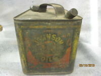 Early Original Johnson Motor Oil Gallon Metal Can